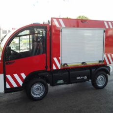 El primer vehiculo electrico para bomberos